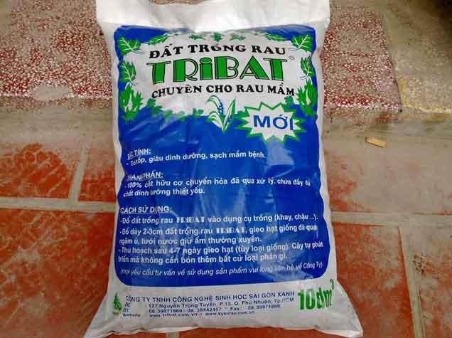 Đất trồng rau mầm tribat 10dm3