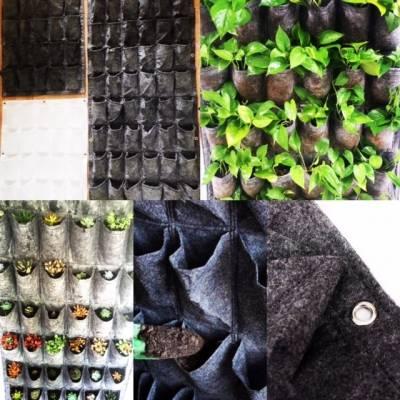 Túi vải trồng cây màu xám