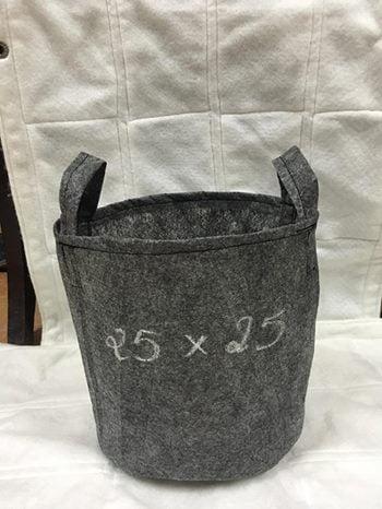 Túi vải ươm cây 25cm x 25cm màu xám