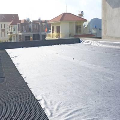 Vỉ nhựa thoát nước và vải địa trồng cây cảnh quan